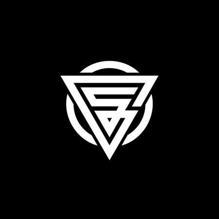 GS letter logo design. GS SG Triangle Vector Logo Circle Monogram Super Hero Concept. Letter GS/SG logo design template. Logo