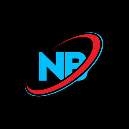 NB N B letter logo design. Initial letter NB linked circle uppercase monogram logo red and blue. NB logo, N B design. nb, n b Иллюстрация