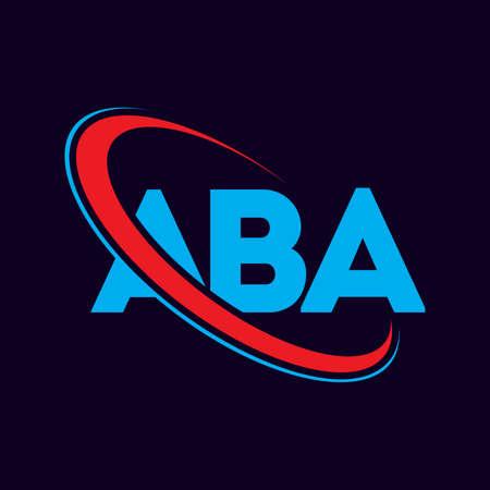 ABA letter logo design