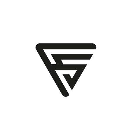 FS letter logo design. F A letter icon vector design. FS logo. FS Logo Letter Initial Monogram Capital Designs Templete