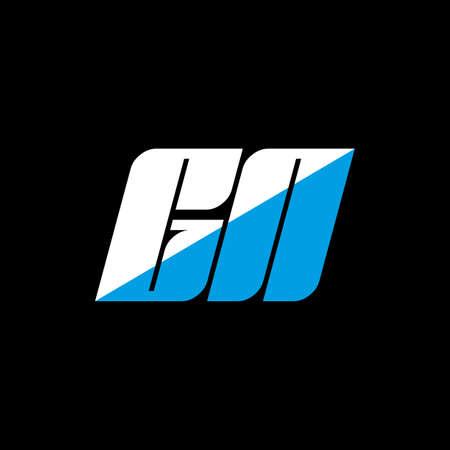 GN letter logo design on black background. GN creative initials letter logo concept. gn icon design. GN white and blue letter icon design on black background. G N