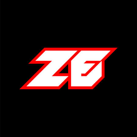ZE logo design, initial ZE letter design with sci-fi style. ZE logo for game, esport, Technology, Digital, Community or Business. Z E sport modern Italic alphabet font. Typography urban style fonts.
