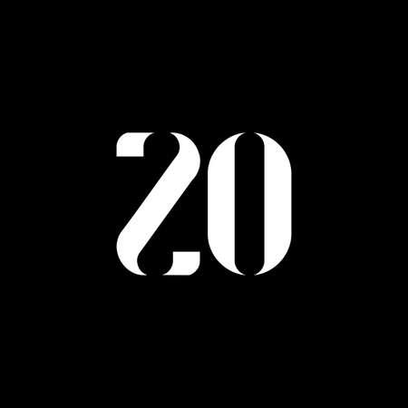 ZO Z O letter logo design. Initial letter ZO uppercase monogram logo white color. ZO logo, Z O design. ZO, Z O