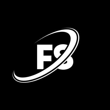 FS F S letter logo design. Initial letter FS linked circle uppercase monogram logo red and blue. FS logo, F S design. fs, f s