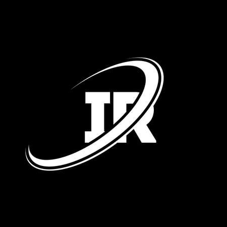 IR I R letter logo design. Initial letter IR linked circle uppercase monogram logo red and blue. IR logo, I R design. ir, i r