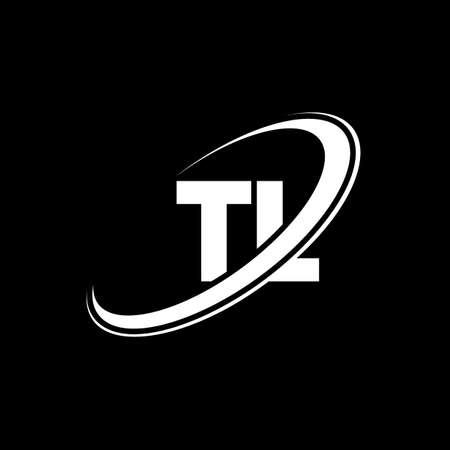 TL T L letter logo design. Initial letter TL linked circle uppercase monogram logo red and blue. TL logo, W L design. tl, t l Logó