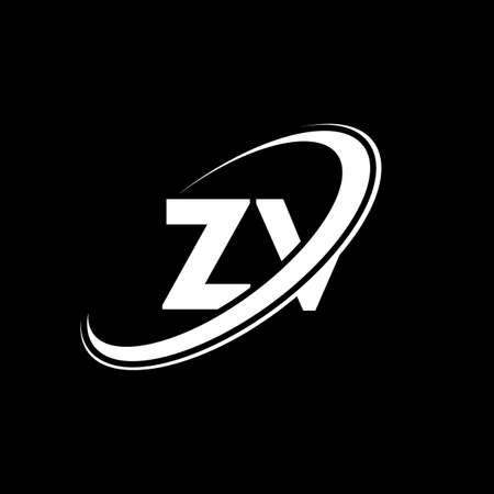 ZV Z V letter logo design. Initial letter ZV linked circle uppercase monogram logo red and blue. ZV logo, Z V design. zv, z v Logo