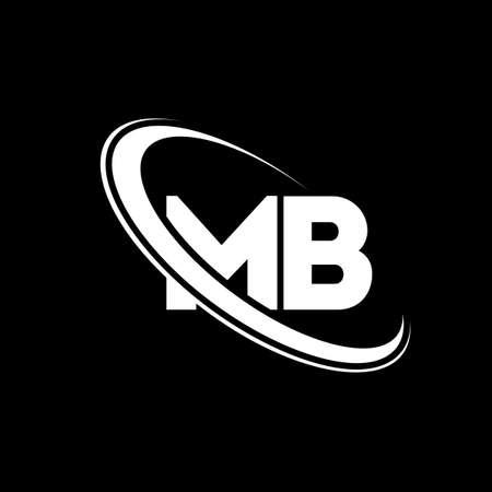 MB logo. M B design. White MB letter. MB/M B letter logo design. Initial letter MB linked circle uppercase monogram logo.