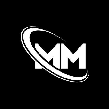 MM logo. M M design. White MM letter. MM/M M letter logo design. Initial letter MM linked circle uppercase monogram logo.