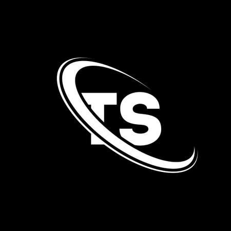 TS logo. T S design. White TS letter. TS/T S letter logo design. Initial letter TS linked circle uppercase monogram logo. Logó