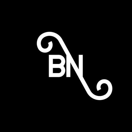BN letter logo design on black background. BN creative initials letter logo concept. bn letter design. BN white letter design on black background. B N, b n logo
