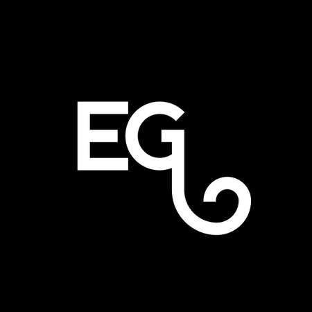 EG letter logo design on black background. EG creative initials letter logo concept. eg letter design. EG white letter design on black background. E G, e g logo