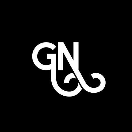 GN letter design on black background.
