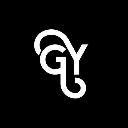 GY letter design on black background.