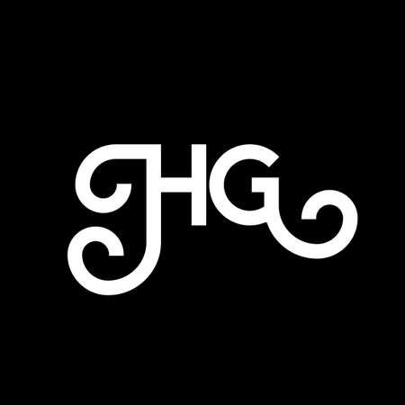 HG letter logo design on black background. HG creative initials letter logo concept. hg letter design. HG white letter design on black background. H G, h g logo