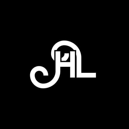 HL letter logo design on black background. HL creative initials letter logo concept. hl letter design. HL white letter design on black background. H L, h l logo