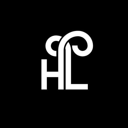 HL letter logo design on black background. HL creative initials letter logo concept. hl letter design. HL white letter design on black background. H L, h l logo Logo