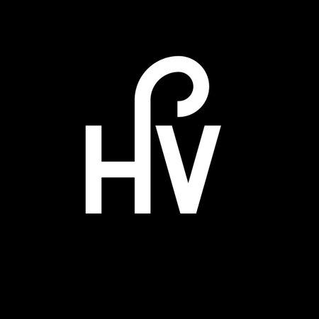 HV letter logo design on black background. HV creative initials letter logo concept. hv letter design. HV white letter design on black background. H V, h v logo