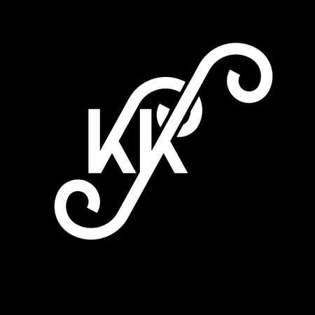 KK letter logo design on black background. KK creative initials letter logo concept. kk letter design. KK white letter design on black background. K K, k k logo