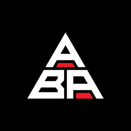 ABA triangle letter logo design with triangle shape. ABA triangle logo design monogram. ABA triangle vector logo template with red color. ABA triangular logo Simple, Elegant, and Luxurious Logo.