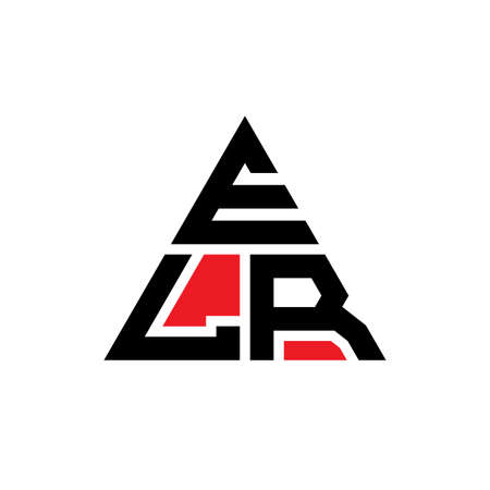 ELR triangle letter logo design with triangle shape. ELR triangle logo design monogram. ELR triangle vector logo template with red color. ELR triangular logo Simple, Elegant, and Luxurious Logo.