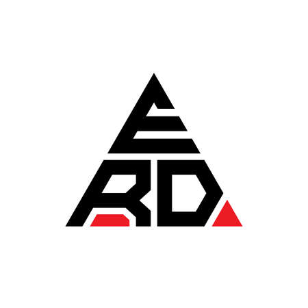 ERD triangle letter logo design with triangle shape. ERD triangle logo design monogram. ERD triangle vector logo template with red color. ERD triangular logo Simple, Elegant, and Luxurious Logo.