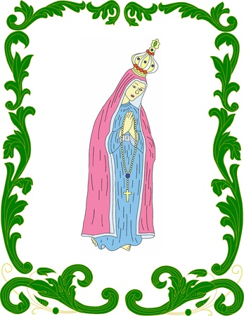 of our lady: Our Lady of Fatima in stylistic frame