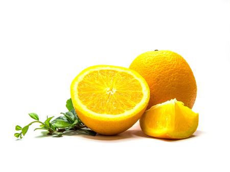 isolataion: orange fruit  Stock Photo