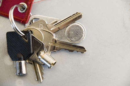 authorisation: Bunch of keys Stock Photo