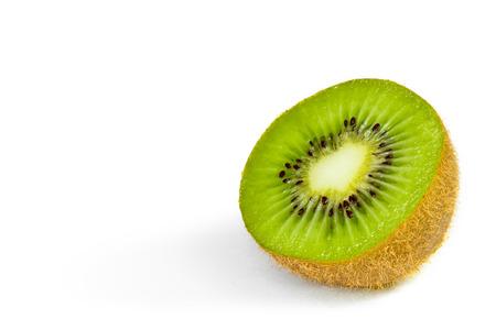 kiwi: Kiwi fruit chopped isolated on white background Stock Photo