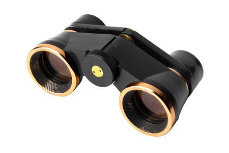 antique binoculars: opera glasses binoculars isolated on a white background