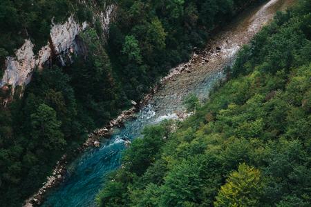 Tara river canyon at summertime, nature landscape. Montenegro