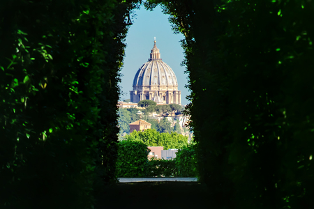 View through the keyhole. Aventine hill. Rome, Italy Reklamní fotografie