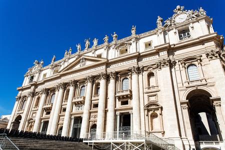 View to Basilica di San Pietro from Piazza San Pietro Stock Photo