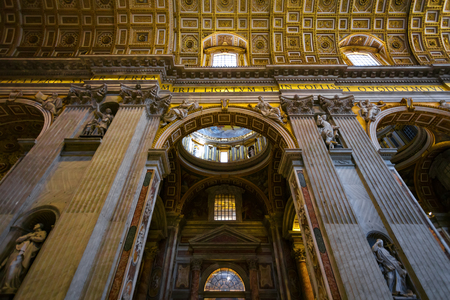 Interior of Basilica di San Pietro (St. Peters Basilica) Editorial