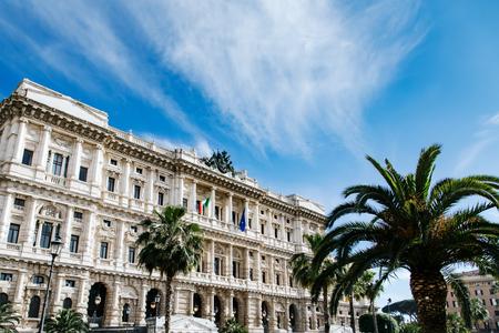 Corte Suprema di Cassazione view from Piazza Cavour. Rome, Italy