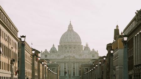 View to Basilica di San Pietro in Vatican Editorial
