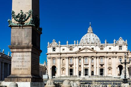 View to Basilica di San Pietro from Piazza San Pietro Editorial