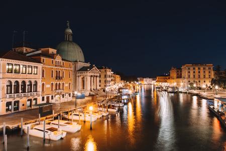 Venice city at summer night. Italy, Europe