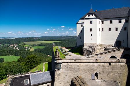 Konigstein fortress in Germany at summer daytime