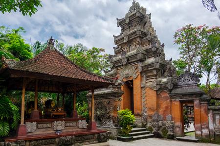 Puri Saren Agung (Ubud Palace). Temple in Bali, Indonesia Editorial