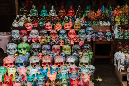 Bali, Indonesia - October 05, 2017: Souvenir market at Ubud city Editorial