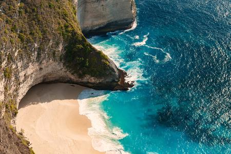 Kelingking beach at Nusa Penida island. Indonesia Stock Photo