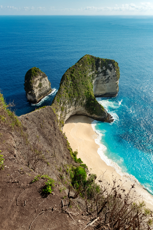 Kelingking beach at Nusa Penida island. Indonesia Stock Photo