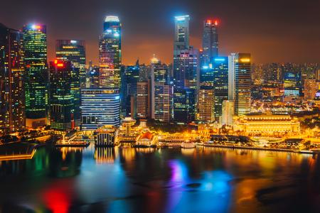 Horizonte de la ciudad de Singapur. Vista aérea del distrito de negocios. Foto de archivo