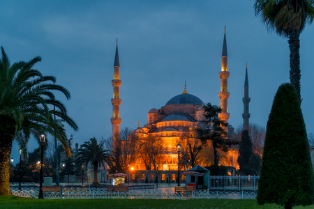 Sultan Ahmed Mosque in Istanbul, Turkey. Blue Mosque