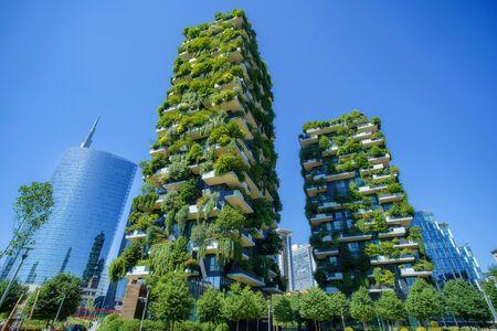 Bosco Verticale (vertikaler Wald) in Mailand, Italien