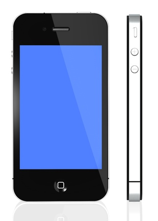 Galati, Romania - March 26th, 2011: The latest generation phone, highly popular around the world. Front and side view