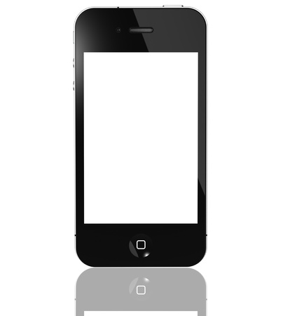 Galati, Romania -  March 12th, 2011: iPhone 4G isolated on white background