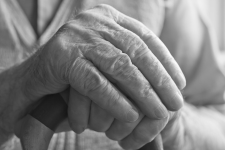hand of a senior man holding a cane Stock Photo - 10723645